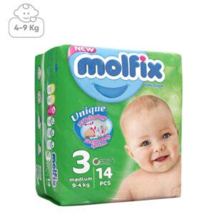 پوشک بچه مولفیکس سایز3 بسته 14عددی