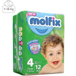 پوشک بچه مولفیکس سایز4 بسته12عددی