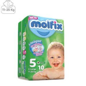 پوشک بچه مولفیکس سایز5بسته 10عددی
