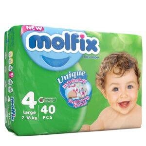پوشک بچه مولفیکس سایز4 بسته40عددی